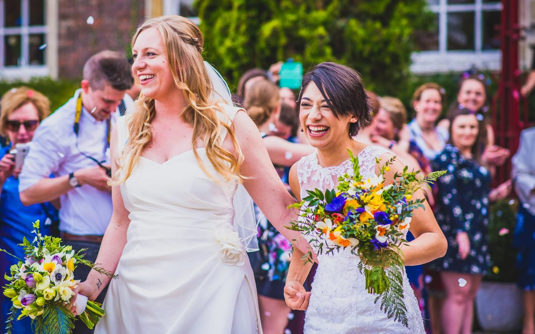 Ez and Lindsay: same sex spring wedding at Anstey Hall