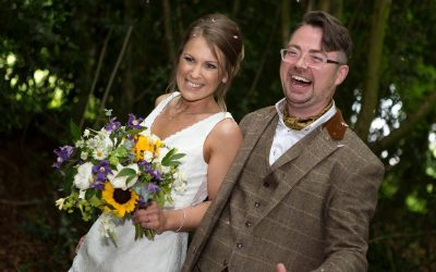 Niall and Abbi: magical woodland wedding at Hockering House
