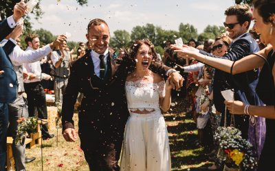 Candice and Lee: outdoor DIY festival wedding in Cambridgeshire