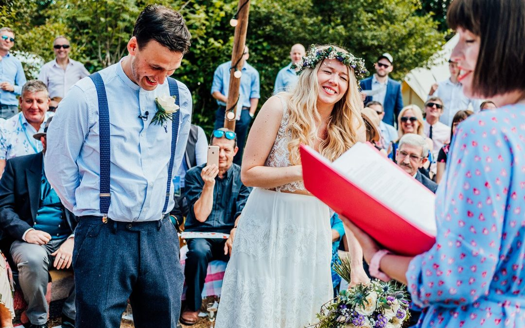 Polly and Chris: two-day festival wedding
